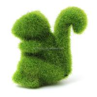 Artificial Turf Land Animal Artificial Grass Squirrel Handicraft for Home Garden Yard Decoration Office Decor Gifts