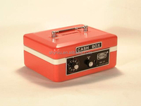 """CHILDREN'S 6"""" SMALL DUAL LOCK PORTABLE METAL CASH BOX SAFE WITH COIN SLOT"""