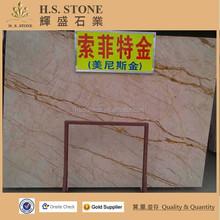 Sofita gold beige marble stone tiles decorative stone marble/marble tile 60x60