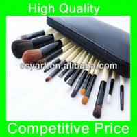 High Quality Makeup Brushes set 15pcs - Goat bobbi soft brown black brush case