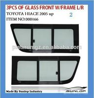 toyota hiace parts KDH auto accessories toyota hiace body kits #000166 toytoa hiace 3pcs of glass front with frame