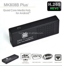 MK808B Plus Amlogic M805 Quad Core Android Mini TV Dongle 1G/8G WIFI DLNA wifi