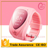 mini gprs tracker kid with long working time environmental TPE wristband geo fence alarming free tracking software