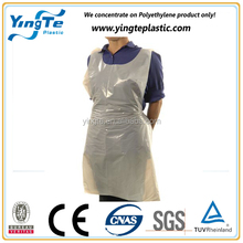 wholesale white blue pink plastic PE/PP/LDPE disposable apron