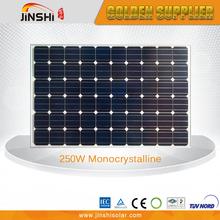 High Quality Best Price solar pv panels 250 watt Monocrystalline