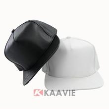 Guangzhou factory wholesale custom pu snapback cap