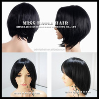 Alibaba Trade Assurance Paypal Accepted Indian Hair Professional Short Hair Lace Wig Silk Top