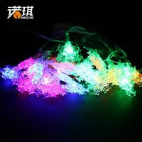 Nuoqi 5.5 meters of snow cover models with light LED string lights Christmas tree decoration decorative festive scene 120g