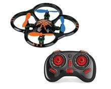 F09364 Hot Sell U207 6 Axis Gyro 4CH Radio Control Mini RC Quadcopter UFO Toys w/ LED Light Black