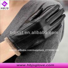 Women's black gants de conduite