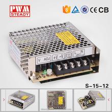 S-15-12 12v 1.3a switching power supply 12 v ac dc power supply 12v 1a