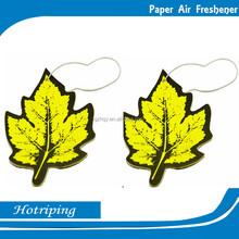 Maple leaf shape air hanging paper factory freshener wholesale