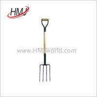 Wooden Handle Garden Tool Digging pitchfork for sale for Sale
