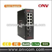 8 PoE Ports Ports Industrial PoE Switch 3 years for PoE Switch
