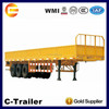Cheap 13m Flatbed Cargo Semi Trailer with Three Axles