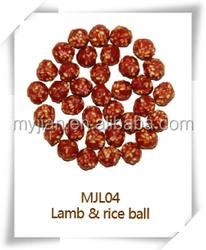 lamb and rice ball MJL04 dog snacks dry bulk dog training treats dog food chew natural manufacturers