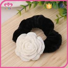 AB plastic scrunchies flower elastic hair band