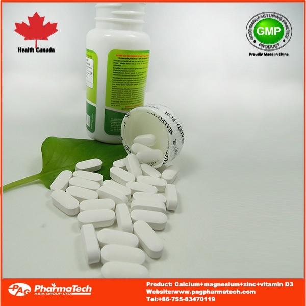 Oem Best Calcium Magnesium Zinc Vitamin D3 Tablets