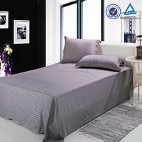 hotel solid color sateen stripe 100 cotton bedding set