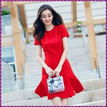 fit and plare bud sexy lady short sleeve red Pretty Woman Cocktail Dress