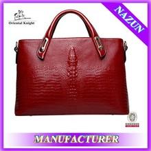European fashion style 2015 female leather handbag tote bag factory