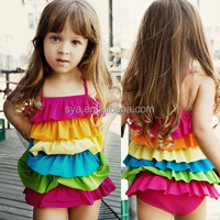 2015 New arrive colorful kids ONE piece children swimwear for girls