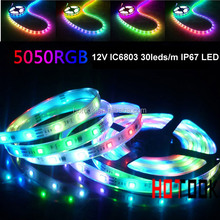 5M SMD 5050 IC6803 133 change mode 30LEDs/Meter IP67 Waterproof flexible LED strip