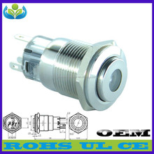 19 mm 220 v lighting metal stainless steel miniature push button switch(factory direct sale)