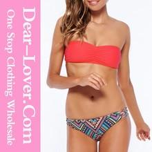 costume da bagno sexy 2015 increspato bandeau bikini donna calda xxx foto