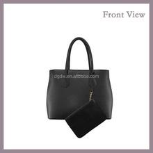 Multi-color PU Handbag in Stock PU Tote bag with Purse