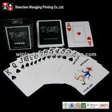 Custom Black Plastic Playing Cards in Tuck Box