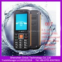 2.4 inch ip67 mobile phone waterproof 007 cdma gsm dual band mobile phones 3800mAh battery cheap waterproof shockproof phone