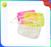 Bag Type transparent clear plastic vinyl PVC zipper pouch