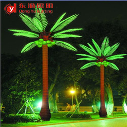 Peru LED coconut tree LED palm tree light with white red green blue purple pink RGB color changing to choose