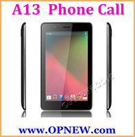 """7"""" Android 4.2 Smart Phone Tablet PC 7 inch Phone Call Mobile Phone Quadband GSM Bluetooth Allwinner A13 3G 6 Color"""