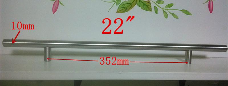 "Diameter 10mm Stainless Steel Kitchen Door Cabinet T Bar Handle Pull Knob 2″ ~ 24"""
