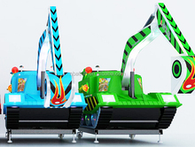 2015 QH-E007 indoor playground equipment simulate excavator toy for kids