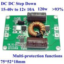 DC DC Step Down Converter 15-40v 24v to 12V 10A voltage regulator 120w bare board 36v to 12V 10a ,high efficiency