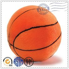 2015 factory promotional high quality fashional stuffed toy basketball