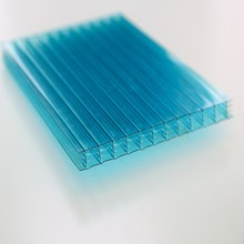 Co Extrusion Light Weight Building Material Colored UV Coated Multiwall Polycarbonate