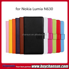 China wholesale for Nokia lumia N630 wallet leather cover
