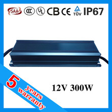 High PFC Constant Voltage Waterproof IP67 12V 300W LED Power Supply for LED Strip