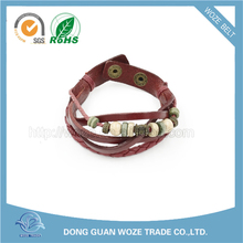 Cheap And High Quality handmade leather bracelet