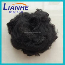 100% solid dyed recycled polyester textile fibres