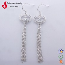 Jewelry silver latest fashion polki jhumka earrings