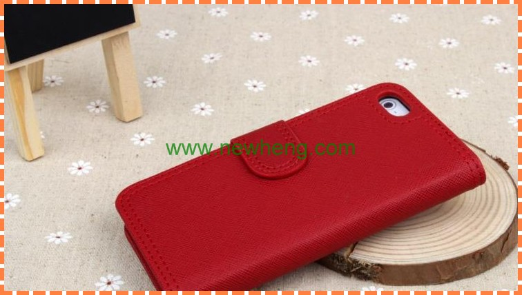 New products cross lines leather case for iphone5