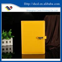 custom 2016 pu lockable gift diary with lock