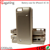 Power band portable cellphone charger 2200mAh for iPhone 5C 5 5S Extended case li-polymer battery power bank