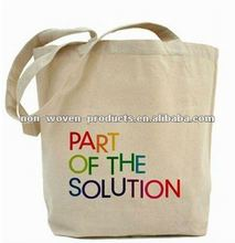 2012 Eco friendly unbleached Canvas Tote Bags