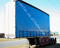 2013 New style Blue Fire resistant PVC tarpaulin for truck cover